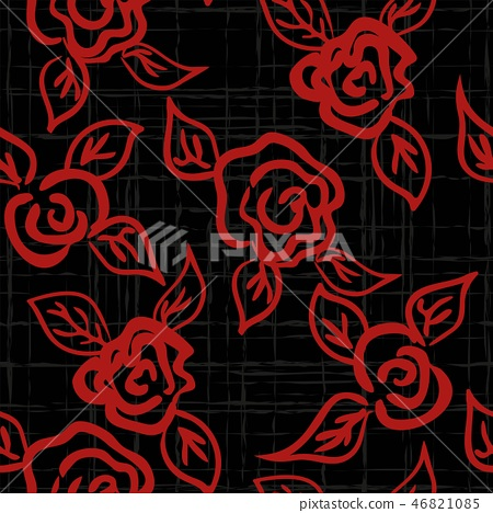 seamless patern graphic roses on a background. 46821085