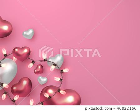 Valentines day, wedding decorative love concept. 46822166