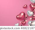 heart valentines background 46822187