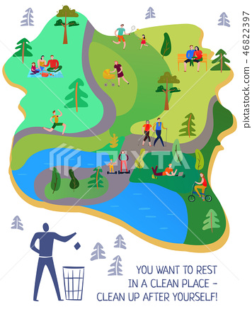 Resting People Flat Poster 46822397