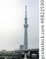 Tokyo Skytree with Tobu Line Train 46822590