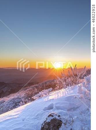 Sunrise, Muju, Deogyusan, Snow, Winter, Korea, Landscape 46822918