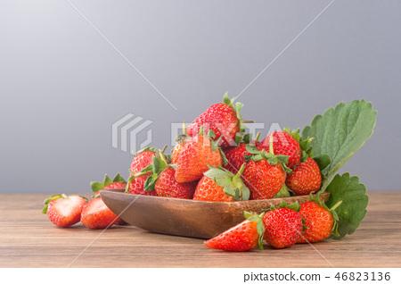 草瓜水水果冬天天堂冬季彩色背景草莓草莓草莓 46823136