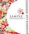 japanese pattern flower 46826402