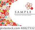 japanese pattern flower 46827332