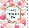 Pink and red balloon hearts 46829121