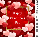 Red background for Valentine's day 46829122