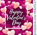Pink Valentine greeting card 46829127