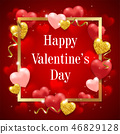 Red background for Valentine's day 46829128