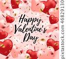 Valentine heart background 46829130