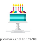 candle, vector, cake 46829288