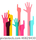 colorful hand vector 46829430