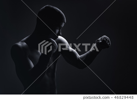 Boxing man 46829448