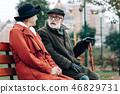 couple, senior, female 46829731