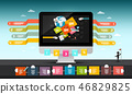 Web Design Concept. Computer, Infographic Elements 46829825