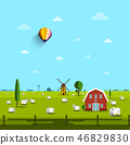 windmill, countryside, country 46829830