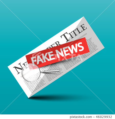 Fake News Vector Icon with Newspapers  46829932