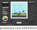 Photo Editing Software Screen. 46830019