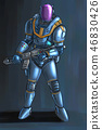 Concept Art Science Fiction Illustration of Futuristic Soldier Character in Armor or Suit and With 46830426