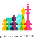 Colorful Vector Transparent Chess Pieces 46830610
