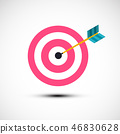 Target Icon. Vector Symbol with Dart in Centre. 46830628