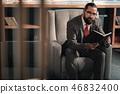 book, businessman, caucasian 46832400