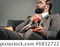 businessman, alcohol, glass 46832722