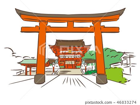 京都府京都市/伏見稻荷大社 46833274