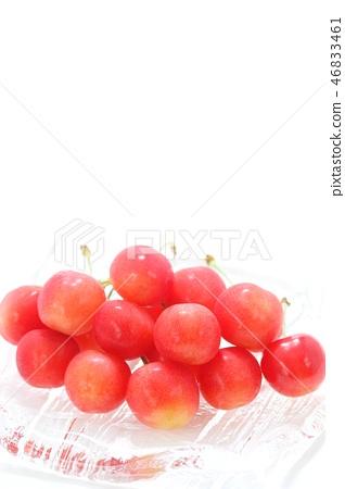 Red cherries White background 46833461