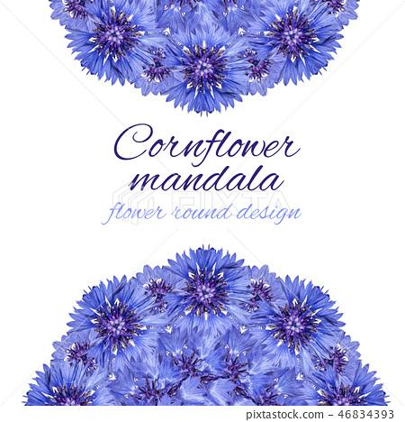 Card with flower mandala 46834393