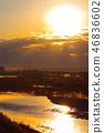 New Year's coming light from the Tama Bridge in Akishima City 46836602