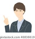 指向手指的一個人 46836619