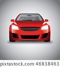 Vector sports red car front view 46838463