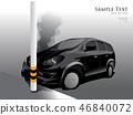 Car crash street light, vector illustrator 46840072