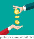 money coin vector 46840663