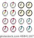 Vector Clock Icons Set 46841167