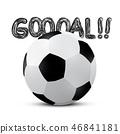 goal, vector, football 46841181