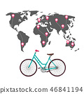 Cycling Around the World with Routes, Pins 46841194