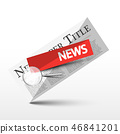 News Symbol. Newspaper Icon, Vector Newspapers 46841201