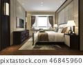 床 卧室 室内装饰 46845960