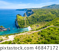 Rocky Coast of a Tropical Island. Aerial View 46847172