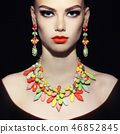 Perfect lady with jewelry 46852845
