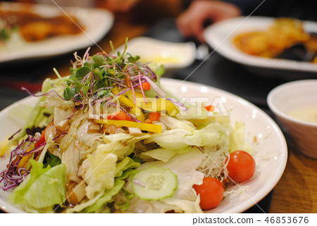 음식 샐러드 야채 채소 46853676