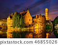 Famous view of Bruges, Belgium 46855026