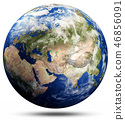 Planet Earth globe map - Asia 46856091