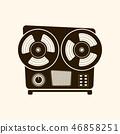 Cassette player retro style .Vector . 46858251