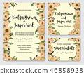 wedding invitation floral 46858928