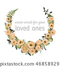 floral watercolor frame 46858929