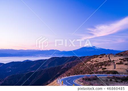 [靜岡縣]伊豆達摩山高原富士山的夜景 46860485