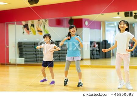 舞蹈學校體育俱樂部兒童教室圖像 46860695